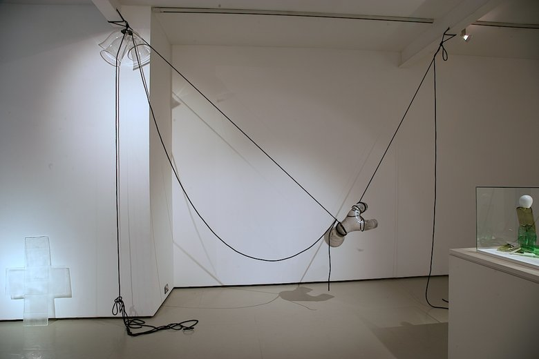 Emma Woffenden: New works,, Box Cross and Bellringer. Bellringer 310 × 360 × 60 cm