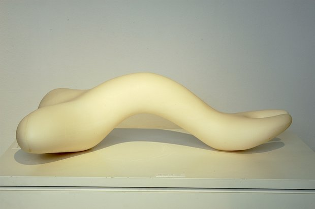 Emma Woffenden: Solo show, Barrett Marsden Gallery, 2004. Ivory limbs reclining