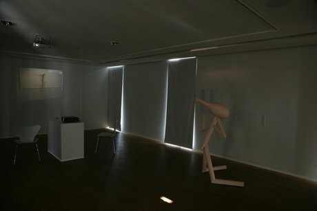Emma Woffenden: Anima Animus, 2009. View of projection room showing No Horizon
