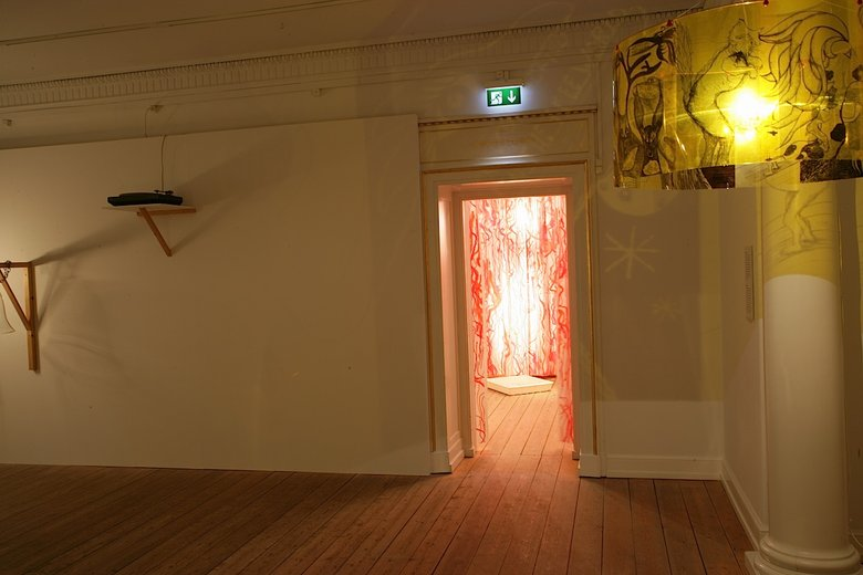 Emma Woffenden: Anima Animus, 2009. Exit to experiments. Shadow Light in foreground.