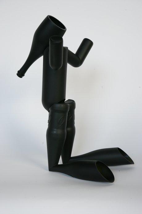 Emma Woffenden: New works, 2008. Elephant Boy 60 × 45 × 28 cm Painted glass bottles