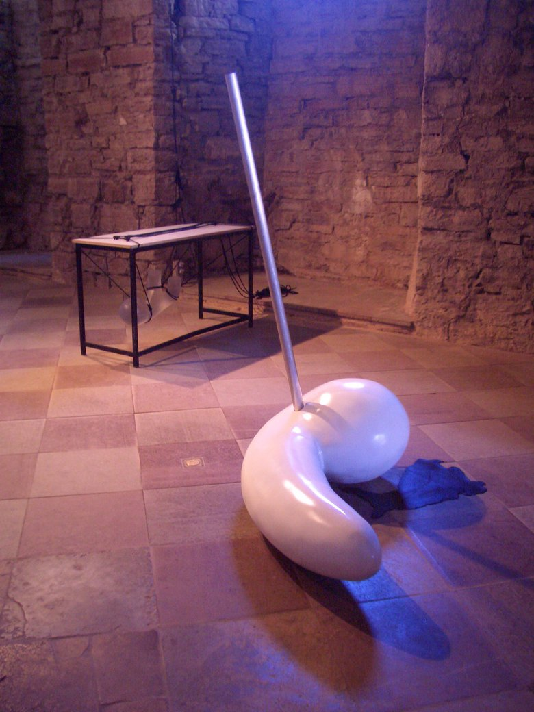 Emma Woffenden: Borgholm Castle installation, 2005.