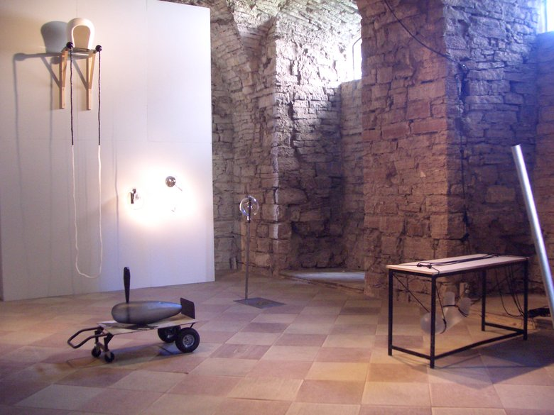 Emma Woffenden: Borgholm Castle installation, 2005. over view of installation