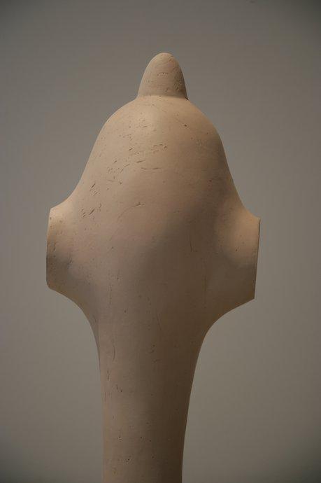 Emma Woffenden: Elephant Revenge Exhibition, 2012. detail of Shark Fin. dimensions 74x26x18 cms. Ceramic.