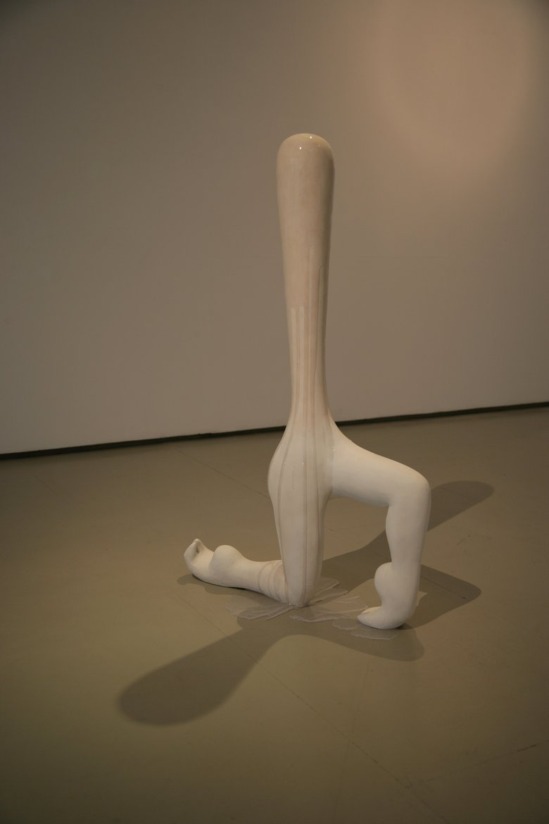 Emma Woffenden: Elephant Revenge Exhibition, 2012. Lunge. jesmonite, polystyrene and resin. dimenions approx 120x90x40cms