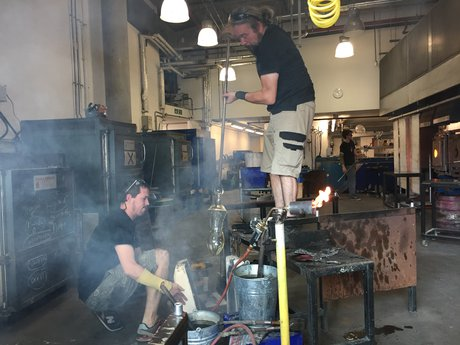 Emma Woffenden: Fell, 2019. work in progress with James Maskery at National Glass Centre