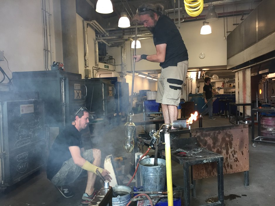 Emma Woffenden: New works Art of Glass, Mummy Woodentop, Fell, installation film and sculpture.. work in progress with James Maskery at National Glass Centre
