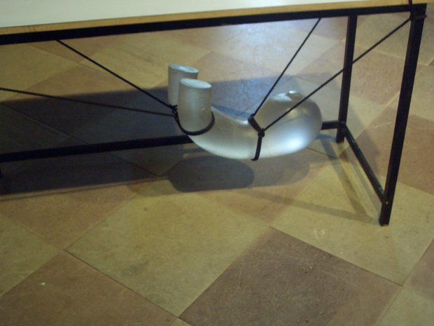 Emma Woffenden: Borgholm Castle installation, 2005.