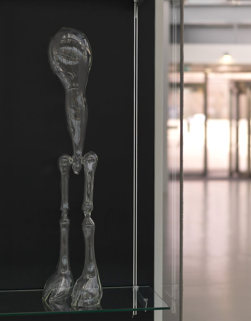 Emma Woffenden: Glass Figures, 2015. Walking figure. Clarity exhibition.